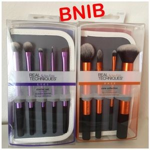 Real Techniques Makeup Brushes set of 2 - BNIB